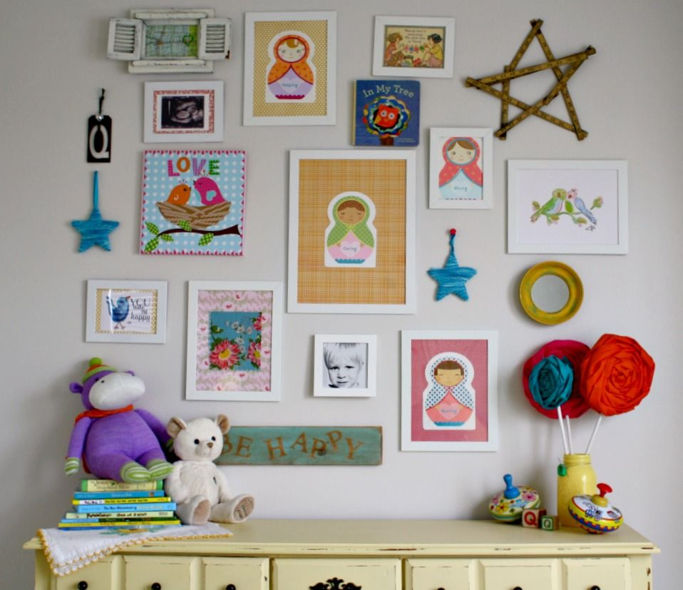 Cute And Artistic Little Boys Room Wall Decoration Ideas