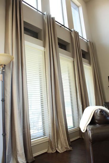 Window Treatments For Tall Windows Ideas Inexpensive Ready Made