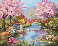 flower garden paintings | Love Your Place: Peaceful ...