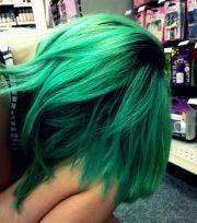 emerald green hair colourful