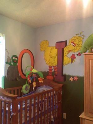 Oscar And Bird Mural Sesame Street Nursery Theme Let Me Tell You That