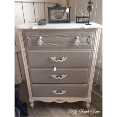 Grey Painted Chairs Ergonomic Chair Sit Stand Beautiful Dresser With Annie Sloan Chalk Paint In