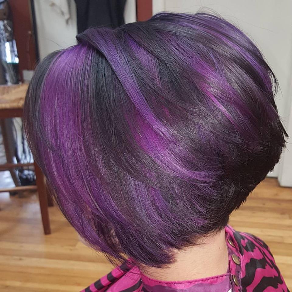 High Shine Black and Purple