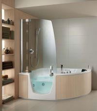 Small Corner Bathtub with Shower | Hot Tubs & Jacuzzis ...