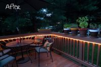 Mood lighting / rope light on deck | Done | Pinterest ...
