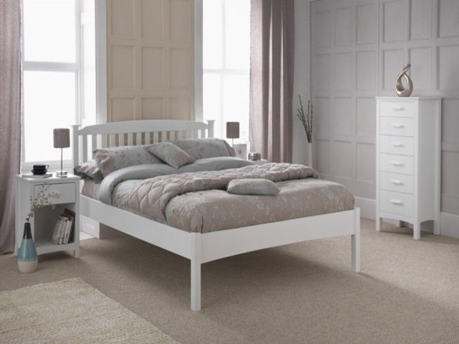 Eleanor White Wood Low Foot End Bed Frame
