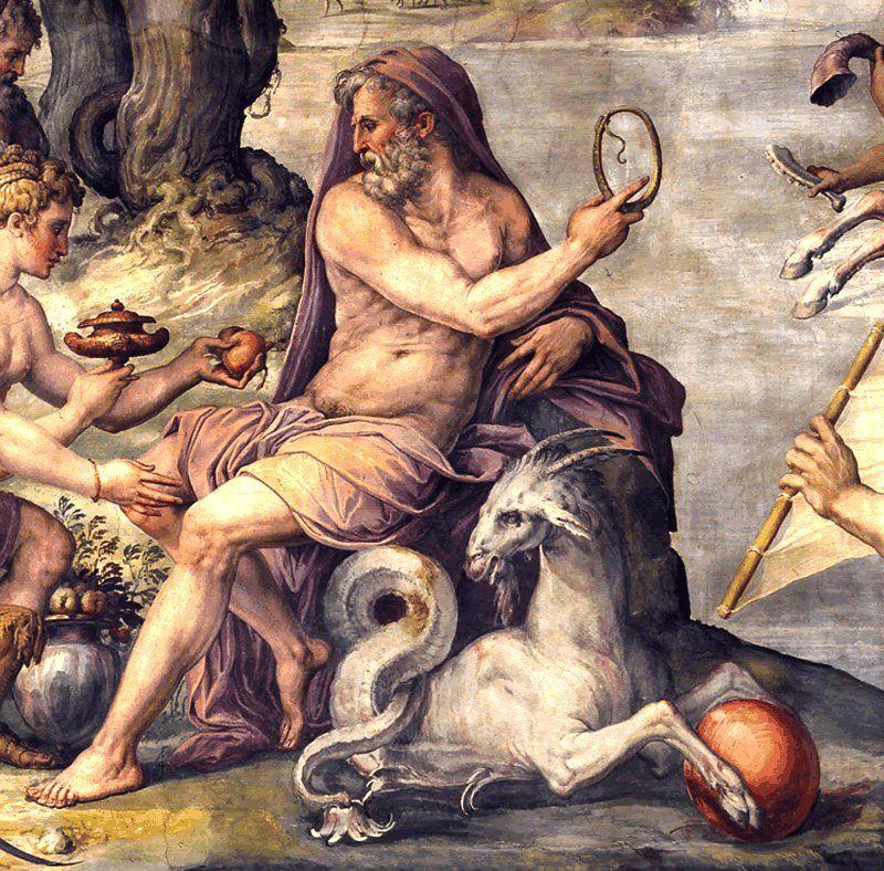 Deus romano Saturno.