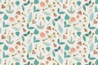 1950s Floral vintage style pattern design | Decor ...