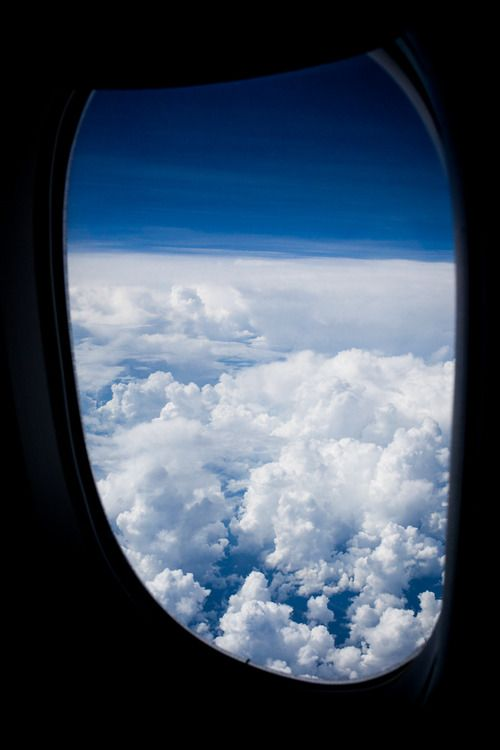 Fly ANYWHERE on a plane Airplane Clouds Above the