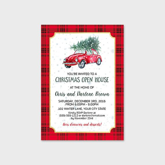 Christmas Open House Invitation Printable By MossAndTwigPrints