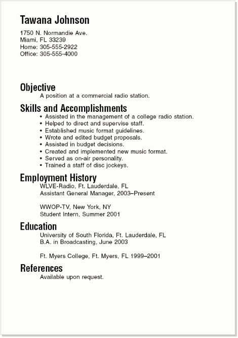 Examples Of Resume For College Students | Resume Examples And Free