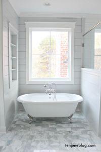 Farmhouse: A Tour of the Master Bathroom. Shiplap ...