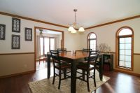 Craftsman Dining Room with Arched window, Chair rail ...