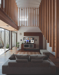 Modern wooden residence designed by architect show situated in sasebo nagasaki japan also the good life doble pinterest interiors architecture interior rh