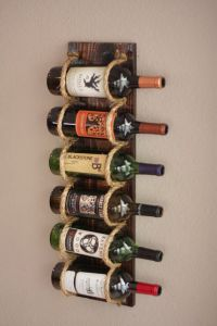 Wall Wine Rack - 6 Bottle Holder Storage Display | DSiGN ...