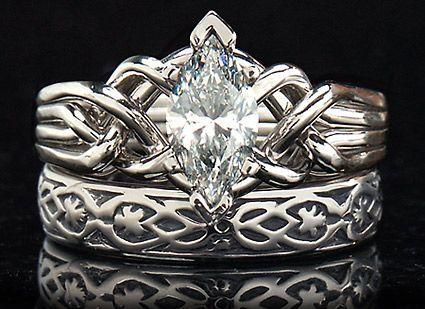 Celtic Puzzle Ring Marquise Diamond Marquise Diamond