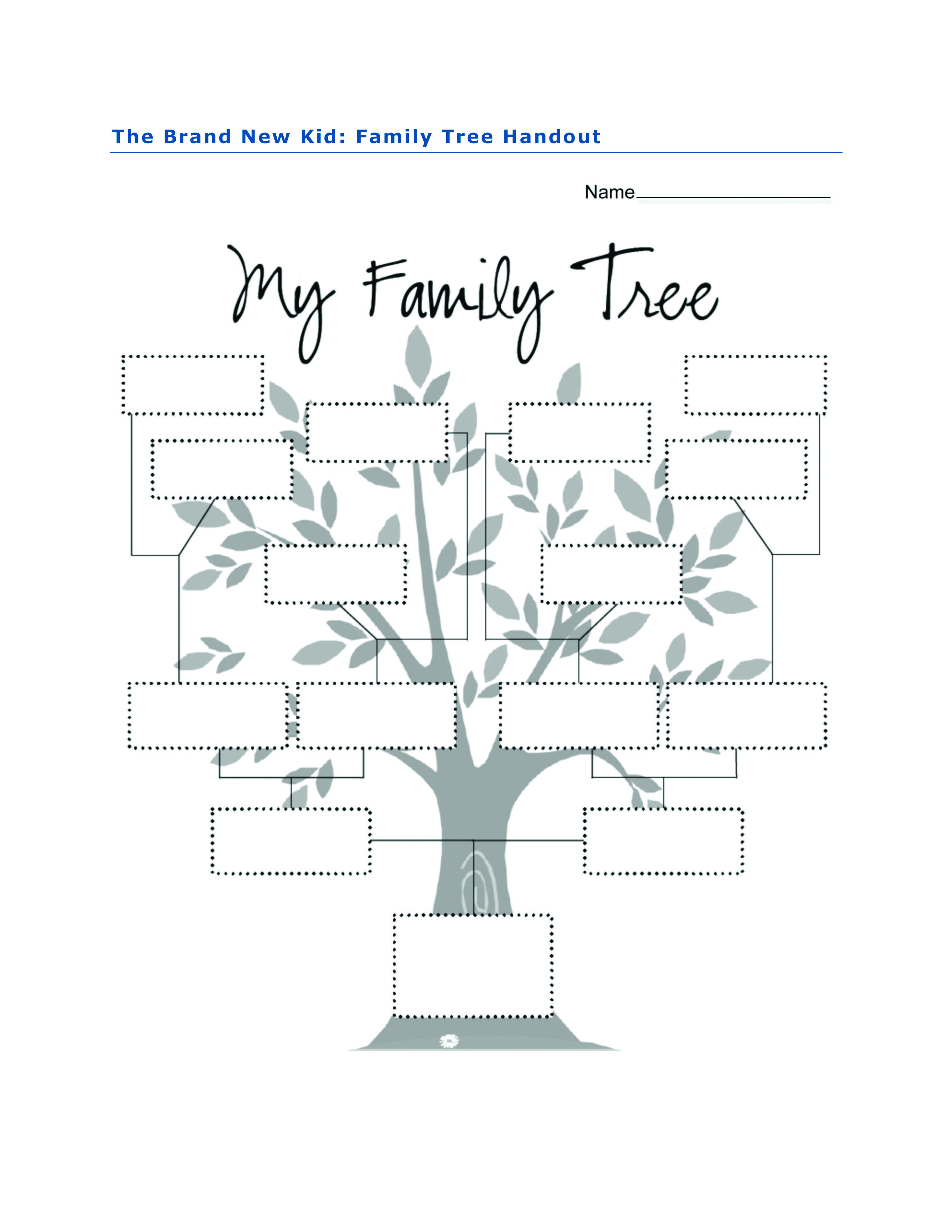 Family Tree Activity For The Brand New Kid By Katie Couric
