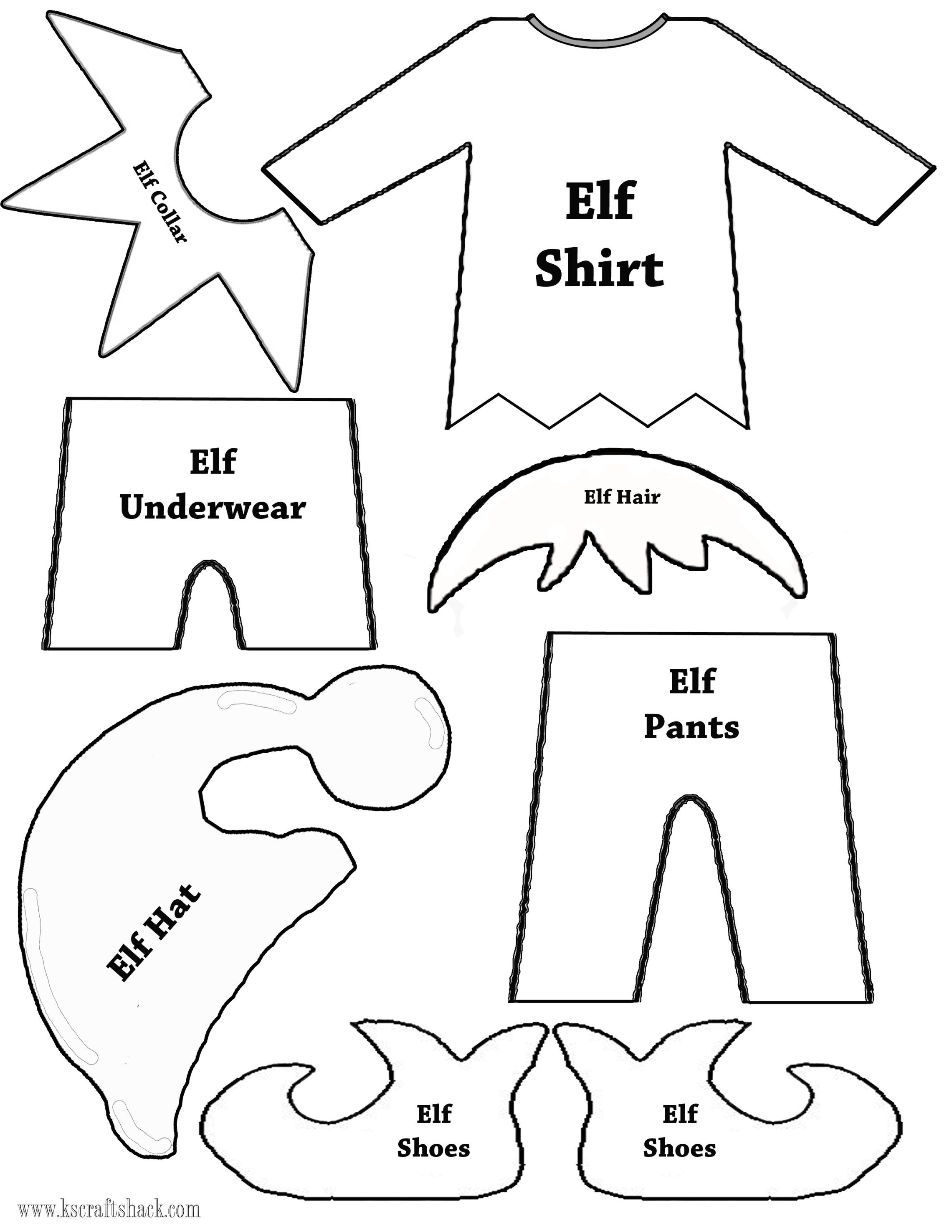Elf Clothes And Parts Template