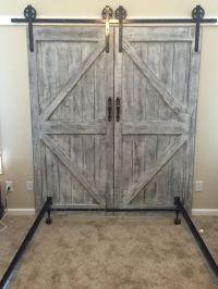Custom made barn door headboard queen with by ...