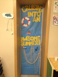 Cruising into summer door decor school-age summer camp ...