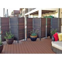 6ft Tall Outdoor Wicker Folding Privacy Screen Partition ...