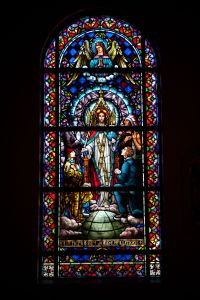 stained glass in churches called