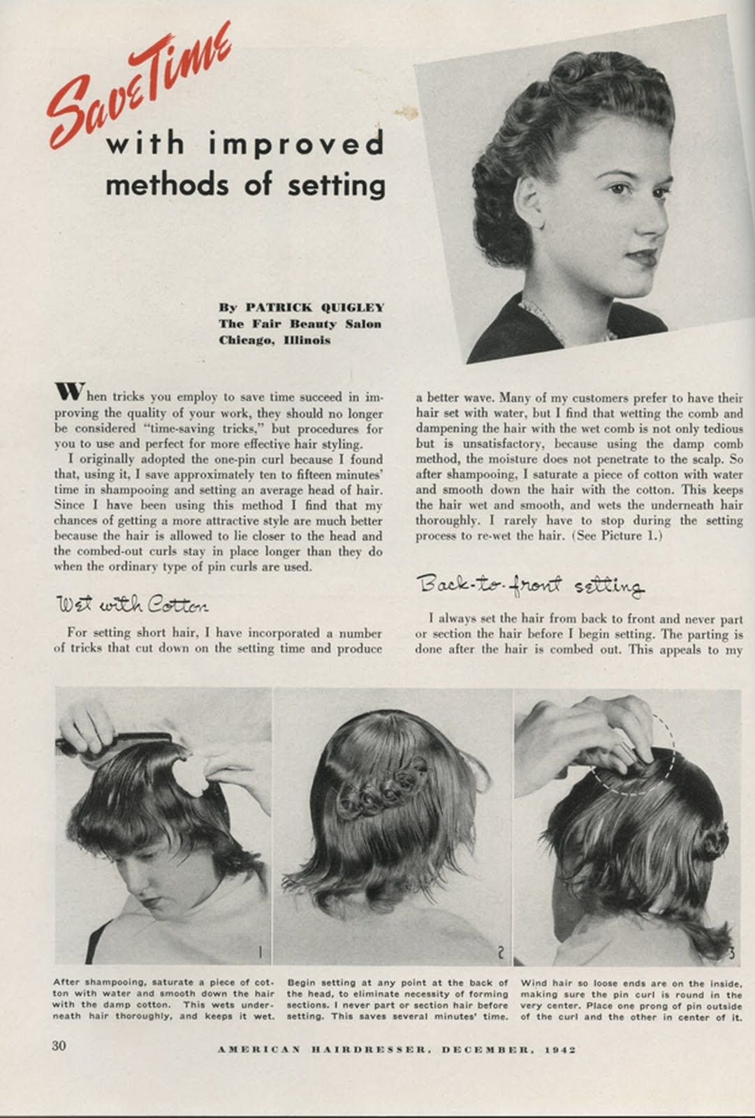 vintage pin curls diagram ge double oven wiring curl perfection hairdressers and hair