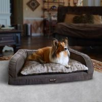 Kirkland Signature Soft Gray Bolstered Sofa Pet Bed ...