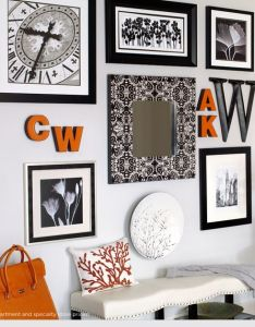 Wall inspiration use our initials with frames pictures mirrors canvases also rh pinterest