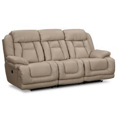 Sofa And More Habitat Chester Leather Springer Wheat Power Reclining Furniture