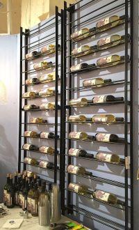 space saving wine rack, wall wine rack, metal wine rack