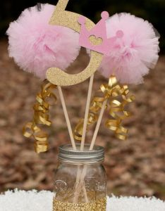 This listing is for  custom princess centerpiece you choose number will receive st birthday party ideas also rh pinterest
