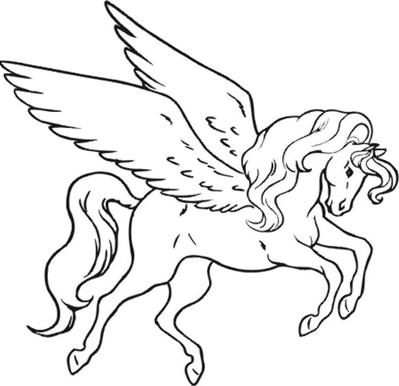 Unicorn Coloring Pages Large - Free Coloring Page