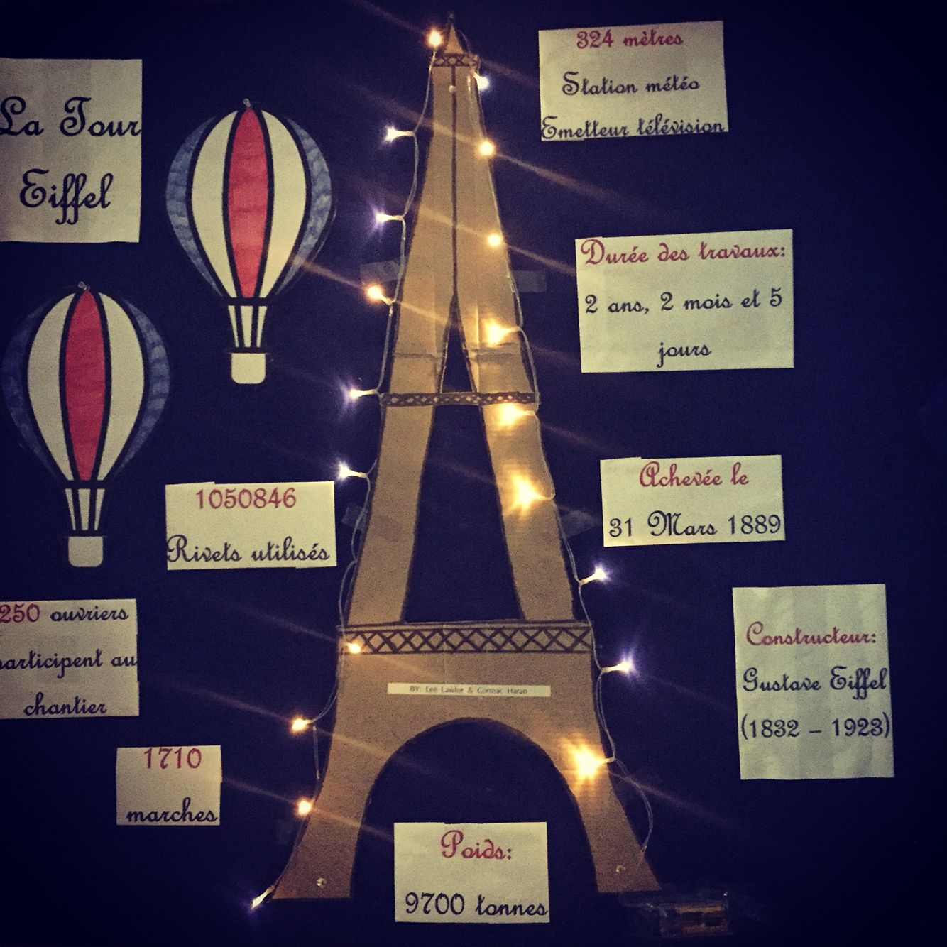 French Classroom Display Eiffel Tower