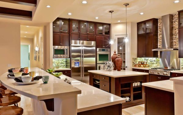 Toll Brothers Model Home Interior Design With Nice Kitchen
