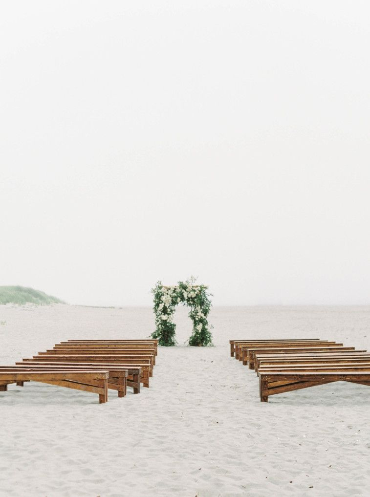 Beautiful beach wedding ceremony setting #beachwedding