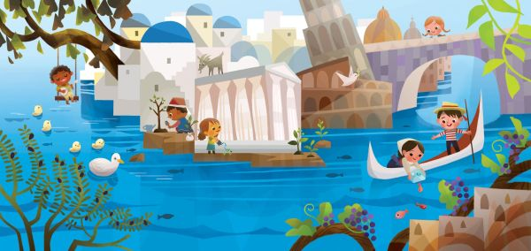 Its a Small World Joey Chou Disney Art