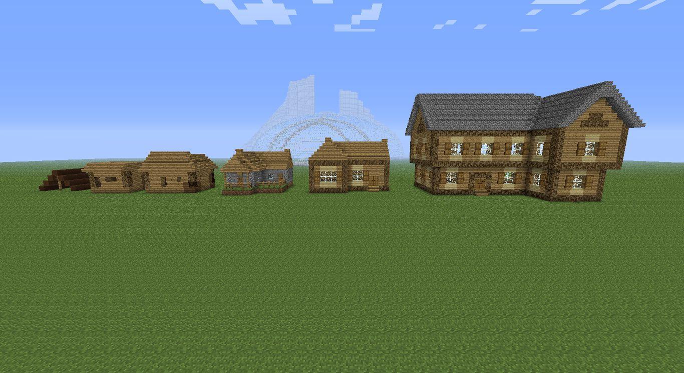 Evolution Of Minecraft Houses Minecraft Pinterest Minecraft