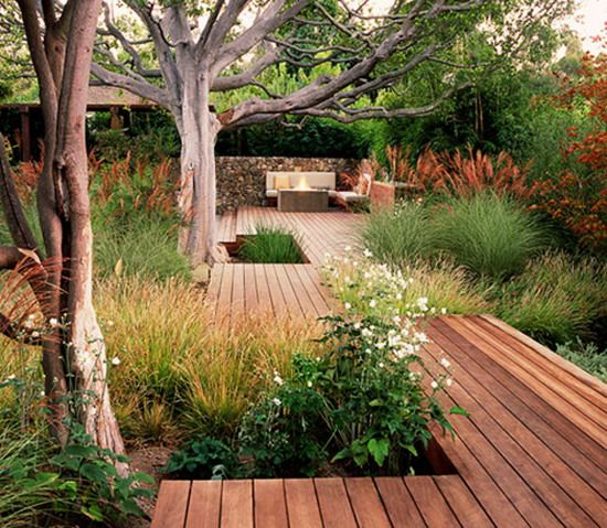 Landscape Garden Ideas With Outdoor Living Room Home Decor Ideas