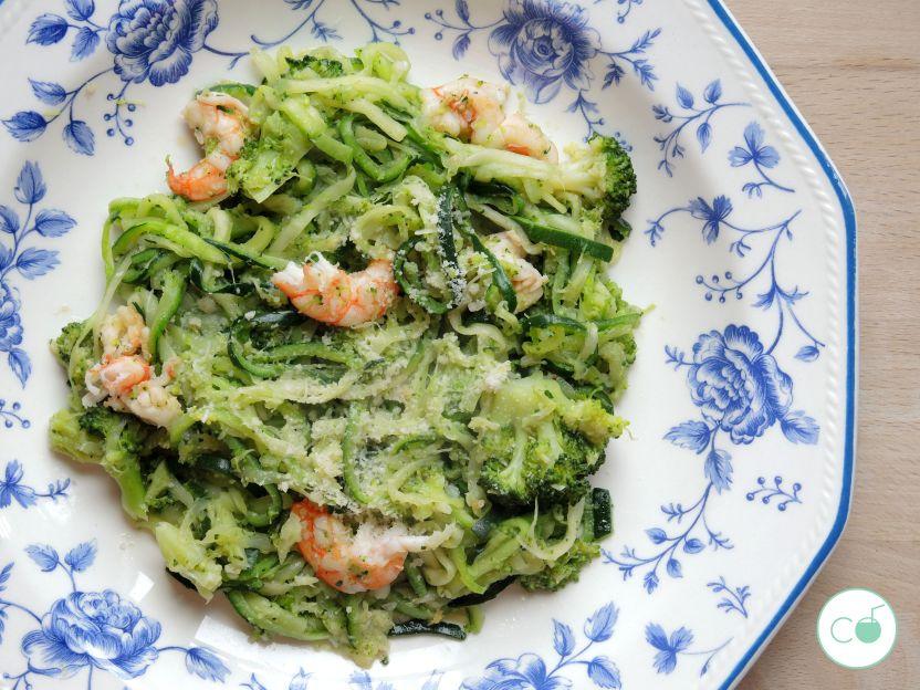 receta espaguetis calabacin - zoodles