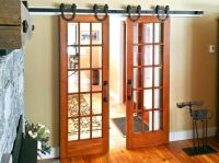 Interior barn door kit with glass panel Interior Barn Door ...