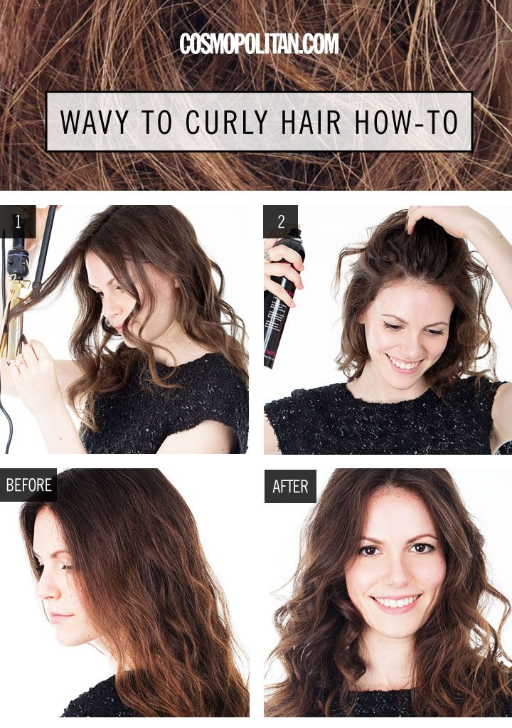 Hair howto instantly make your wavy hair curlier