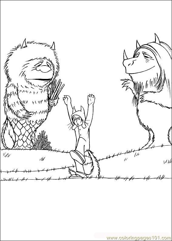 Where The Wild Things Are Coloring Pages #