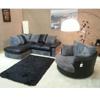 cuddle couch   Verana Chaise Corner Sofa With Matching ...