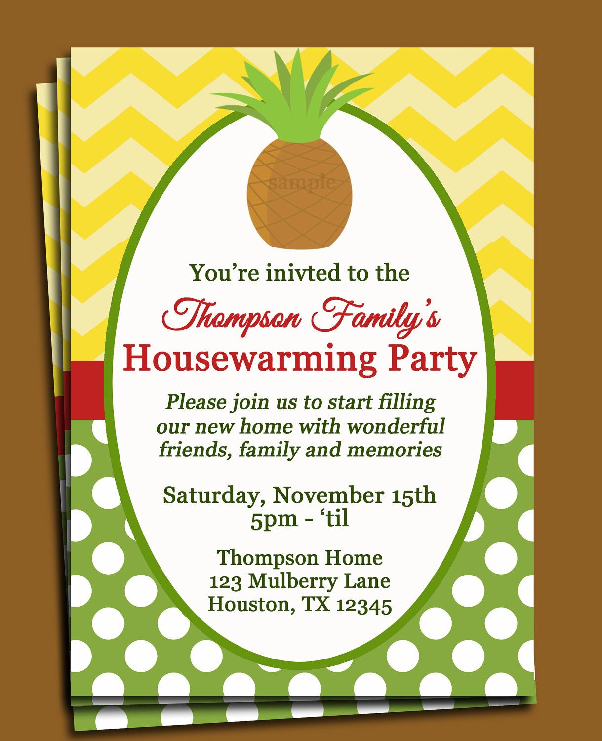 New Home Party Invitation Ideas