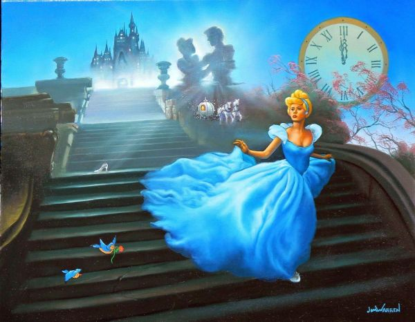 Jim Warren. Warren Disney Paintings Art Princess Cinderella