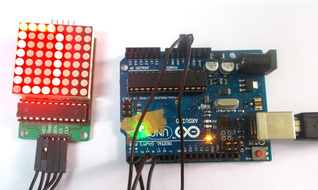 Led Display Board Circuit Diagram Http Atmega32avrcom 8x8