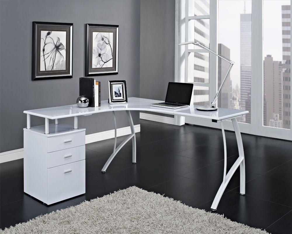 white corner desk  House Ideas  Desk Bedroom  Pinterest