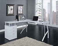white corner desk | House Ideas - Desk Bedroom | Pinterest ...