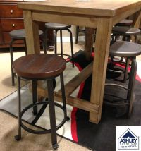 Challiman Counter Height Barstool Rustic in feel with ...